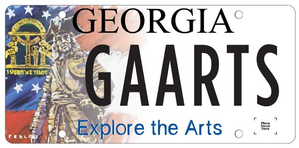 new georgia license plate benefits the local arts community! - metro