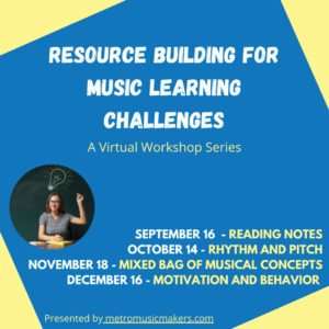 Resource building for music learning challenges